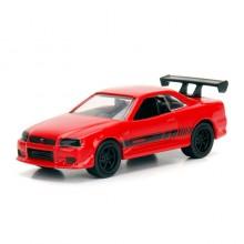 Jada 1:64 JDM Tuners Die-Cast 2002 Nissan Skyline GT-R (R34) Car Red Model Collection