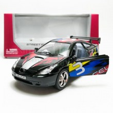 Kinsmart 1:34 Die-cast Toyota Celica Car Street Fighter Model with Box Collection