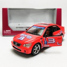 Kinsmart 1:36 Die-cast Lexus IS300 Car Street Fighter Model with Box Collection