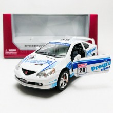 Kinsmart 1:34 Die-cast Honda Integra Type R Car Street Fighter Model with Box Collection