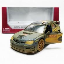 Kinsmart 1:36 Die-cast Subaru Impreza WRC 2007 (Muddy) Car Model with Box Collection
