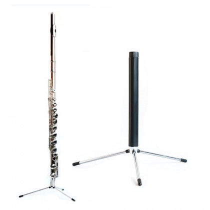 SOU Western Concert Tripod Oboe Flute Clarinet Sax Wind Folding Black Tube Bracket Shelf Vertical Bracket Portable Instrument Bracket Accessories
