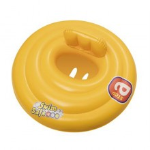 "Bestway 32096 Triple Ring Baby Seat Step A Vinyl Yellow Swim Float 69cm 27"" Swimming Pool"