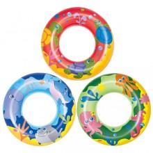 "Bestway 36113 51cm 20"" Designer Swim Ring Kids Children's Sea Animals Design Swimming New"