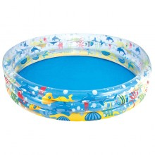 Bestway 51005 Inflatable Deep Dive 3-Ring Pool 1.83m x 33cm Summer Garden Kids Family Swimming Pool
