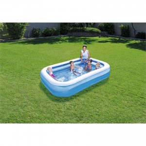 Bestway 54006 Blue Rectangular Family Pool 2.62m x 1.75m x 51cm Summer Garden Kids Family Swimming Pool