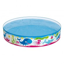 Bestway 55029 Fill 'N Fun Pool Kids Rigid Wall Vinyl 1.52m x 25cm Garden Summer Swimming Paddling Pool