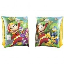 Bestway 91002 Inflatable Armbands Disney Mickey Mouse Sleeves And Superpilots Safety Kids Play Swimming Pool New