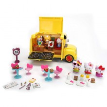 Jada Toys Hello Kitty School Bus Big Set Die-cast Genuine License Product Yellow Model Collection Christmas New Gift