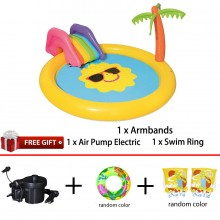 Bestway 53071 Sunnyland Splash Play Pool 2.37m x 2.01m x 1.04m Summer Garden Kids Family Swimming Pool
