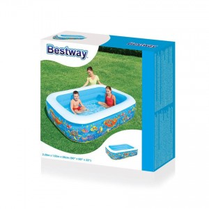 Bestway 54120 Inflatable Ocean World Play Clownfish Lagoon Family Pool 2.29m x 1.52m x 56cm Interactive Pool