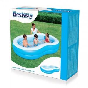 Bestway 54117 The Big Lagoon Family Pool 2.62m x 1.57m x 46cm Summer Garden Kids Family Swimming Pool