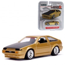 Jada 1:64 JDM Tuners Die-Cast 1986 Toyota Trueno AE86 Car Gold Model Collection