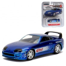 Jada 1:64 JDM Tuners Die-Cast 1995 Toyota Supra Car Blue Model Collection
