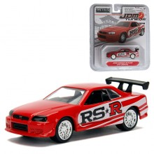 Jada 1:64 JDM Tuners Die-Cast 2002 Nissan Skyline GT-R (R34) Car Red Model Collection