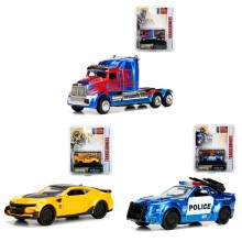 Jada 1:64 Transformers: The Last Knight Die-Cast Wave 1 - 3 Piece Case Car 3 in 1 Set Model Collection
