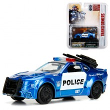Jada 1:64 Transformers: The Last Knight Die-Cast Barricade Police Interceptor Car Blue Model Collection