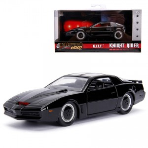 Jada 1:32 Die-Cast Hollywood Rides K.I.T.T. 1982 Pontiac Firebird (Knight Rider) Car Black Model Collection