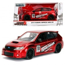 Jada 1:24 JDM Tuners Die-Cast 2012 Subaru Impreza WRX STI Car Red Model Collection