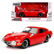 Jada 1:24 JDM Tuners Die-Cast 1967 Toyota 2000GT Car Red Model Collection
