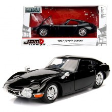 Jada 1:24 JDM Tuners Die-Cast 1967 Toyota 2000GT Car Black Model Collection