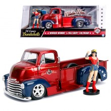 Jada 1:24 Die-Cast Hollywood Rides Wonder Woman & 1952 Chevy COE Pickup Car Model Collection