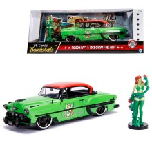 Jada 1:24 Die-Cast Hollywood Rides Poison Ivy & 1953 Chevy Bel Air Car Model Collection