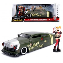 Jada 1:24 Die-Cast Hollywood Rides Harley Quinn & 1951 Mercury Car Model Collection