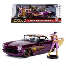 Jada 1:24 Die-Cast Hollywood Rides Batgirl & 1957 Chevy Corvette Car Model Collection