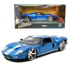 Jada 1:24 Fast & Furious 5 Die-Cast Ford GT Car Blue Model Collection