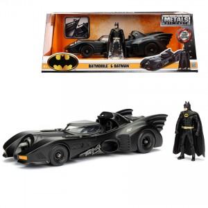 Jada 1:24 Die-Cast 3 in 1 Batman & Batmobile Set Model Collection