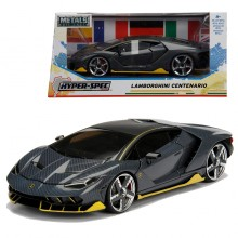 Jada 1:24 Hyper Spec Die-Cast Lamborghini Centenario Car Grey Model Collection
