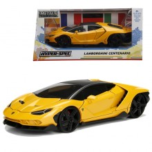 Jada 1:24 Hyper Spec Die-Cast Lamborghini Centenario Car Yellow Model Collection
