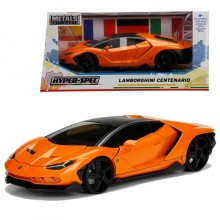 Jada 1:24 Hyper Spec Die-Cast Lamborghini Centenario Car Orange Model Collection