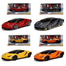 Jada 1:24 Hyper Spec Die-Cast 4 in 1 Set Lamborghini Centenario Car Model Collection
