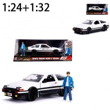 Jada 1:24 + 1:32 Set Die-Cast Hollywood Rides Toyota Trueno AE86 (Initial D) Car Model Collection