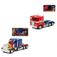 Jada 1:32 Die-Cast 2 in 1 Set Optimus Prime (T1 + G1) Transformers Model Collection