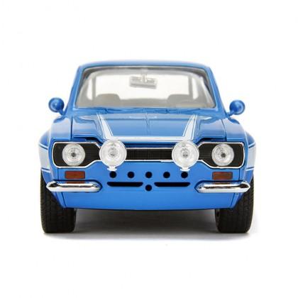 Jada 1:24 Fast & Furious 6 Die-Cast Brian's 1970 Ford Escort MK 1 Car Blue Model Collection