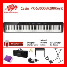 88 Keys Casio PX-S3000 BK Digital Electronic Musical Instruments Keyboard Piano