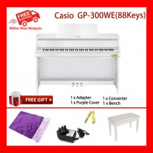 88 Key Casio GP-300 WE Grand Hybrid Piano 5 Sensitive Levels Polyphony 256 New