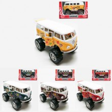 Kinsmart 1:32 Die-cast 1962 Volkswagen Classical Bus Off Road w Printing Car Model with Box Collection