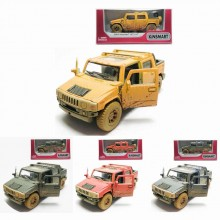 Kinsmart 1:40 Die-cast 2005 Hummer H2 SUT (Muddy) Car Model with Box Collection