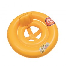 "Bestway 32027 Double Ring Baby Seat Step A Vinyl Yellow Swim Float 69cm 27"" Swimming"