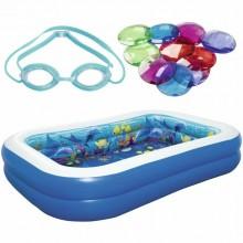 Bestway 54177 Inflatable 3D Undersea Adventure Swimming Pool 2.62m x 1.75m x 0.51m