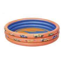 Bestway 93403 Hot Wheels 3 Ring Ball Pit Play Pool Orange 1.22m x 25cm Safety Valves Kids New