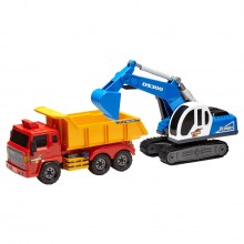 Daesung Super Dump Truck and Shovel 360 Degree Excavator Shovel Premium Plastic Educational Toys Creative Heavy Duty DS-160