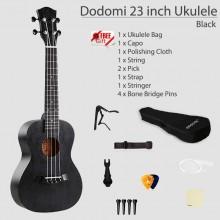 Dodomi 23 inch Acoustic Ukulele Standard Basic Package Bag Capo Pick Free Gift