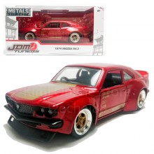 Jada 1:32 JDM Tuners Die-Cast 1974 Mazda RX3 Car Red Model Collection