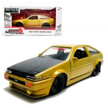 Jada 1:32 JDM Tuners Die-Cast 1986 Toyota Trueno (AE86) Car Gold Model Collection