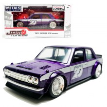 Jada 1:32 JDM Tuners Die-Cast 1973 Datsun 510 Widebody Car Purple Model Collection